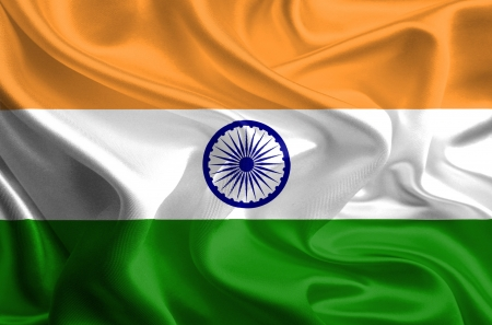 Waving Fabric Flag of India  Stock Photo - 16963564