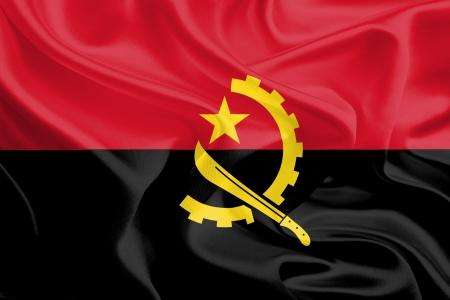 Waving Fabric Flag of Angola