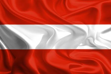 Waving Fabric Flag of Austria