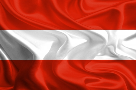 Waving Flag Fabric of Austria photo