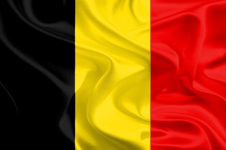 Waving Fabric Flag of Belgium