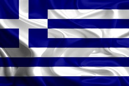 Waving Fabric Flag of Greece