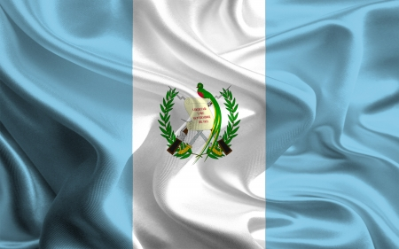 Waving Fabric Flag of Guatemala photo