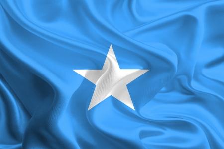 Waving Fabric Flag of somalia Stock Photo