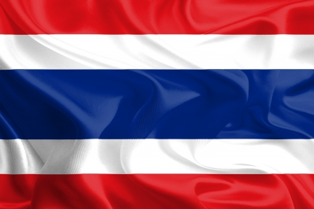 Waving Fabric Flag of Thailand