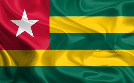 Waving Fabric Flag of togo