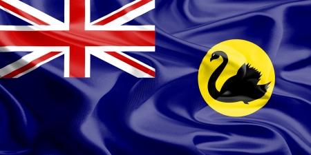 Waving Fabric Flag of Western Australia