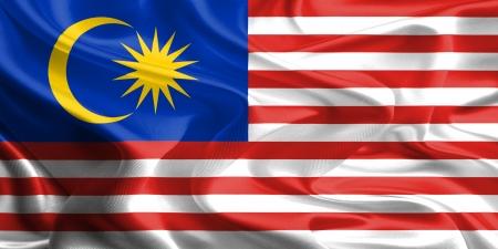 말레이시아의 물결 직물 깃발