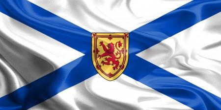 Waving Fabric Flag of Nova Scotia, Canada