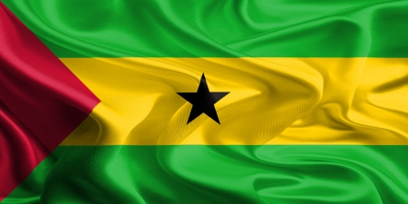 principe: Tela Bandera de Santo Tomé y Príncipe