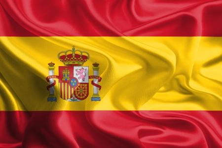스페인의 물결 직물 깃발