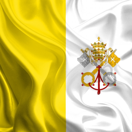 Waving Fabric Flag of vatican