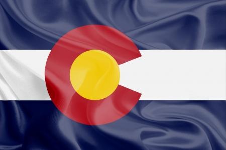 flag of colorado: USA State Flags  Waving Fabric Flag of Colorado