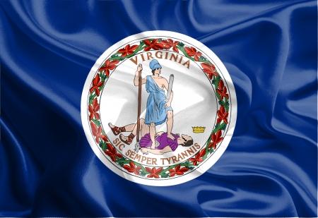 USA State Flags  Waving Fabric Flag of Virginia