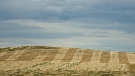 Prairie and farmlands in the foothills of southern Alberta, Canada photo
