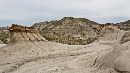 The badlands landscape, Dinosaur National Park, Alberta, Canada   photo