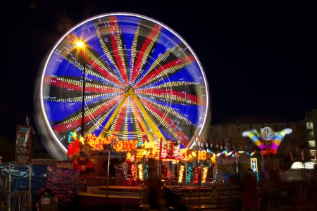 Ferris wheel at night at Calgary Stampede Park  Stock Photo - 18832248