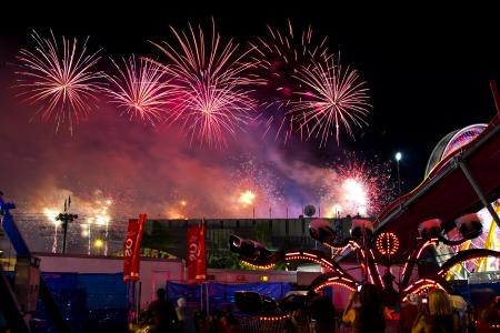 Calgary Stampede Fireworks Stock Photo - 18832246