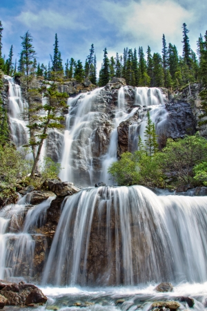 Tangle Falls in Jasper National Park, Alberta, Canada