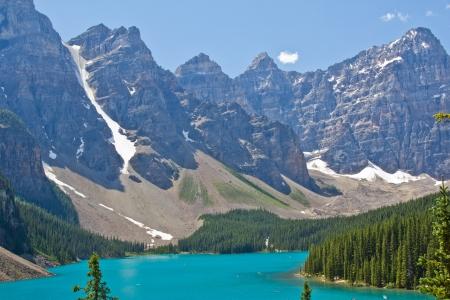 Moraine Lake in Banff National Park, Alberta, Canada  photo