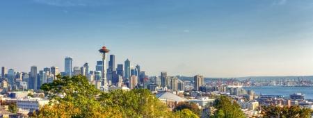 Seattle Skyline Panorama van Kerry Park