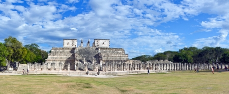 Temple of the Warriors in Chichen Itza, Quintana Roo, Mexico  Mayan ruins near Cancun   photo