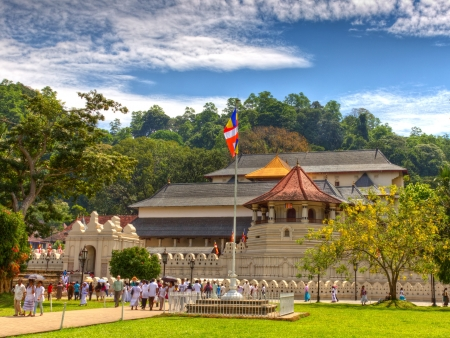 kandy:  Famous Buddist Temple of the Tooth Relic  Dalada Maligawa , Sri Lanka
