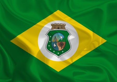 federative republic of brazil: Brazil State Flags  Waving Fabric Flag of Ceará