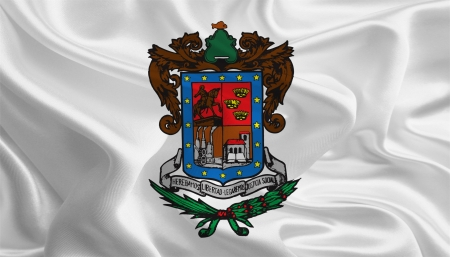 ocampo: Mexican State Flags  Waving Fabric Flag of Michoacán de Ocampo