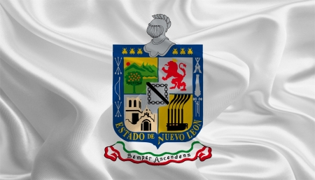 nuevo: Mexican State Flags  Waving Fabric Flag of Nuevo Le�n