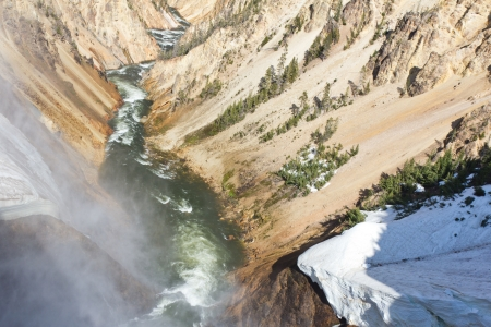 lower yellowstone falls: Grand Canyon of the Yellowstone, Yellowstone National Park, Wyoming, United States