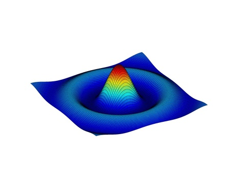 Beautiful colored 3d graph of a mathematical function Vector