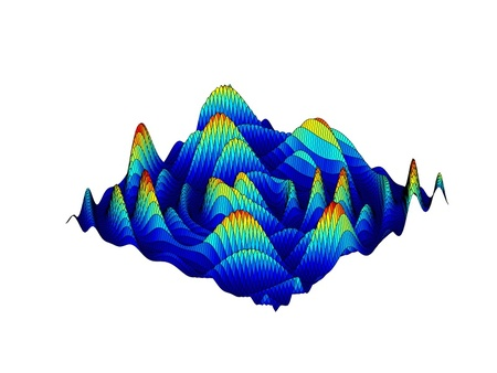 Beautiful colored 3d graph of a mathematical function