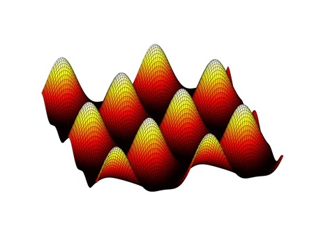 cosine: Beautiful colored 3d graph of a mathematical function