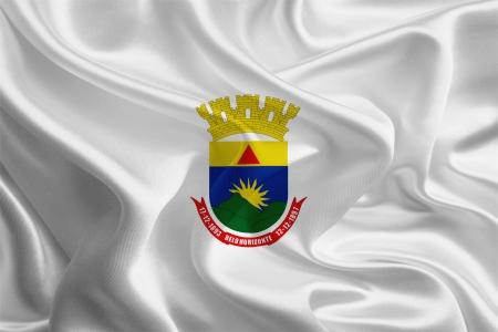 Brazil City Flags  Waving Fabric Flag of Belo Horizonte  Minas Gerais  Stock Photo