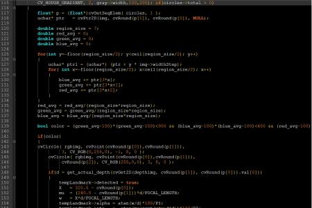 Program code on a dark background