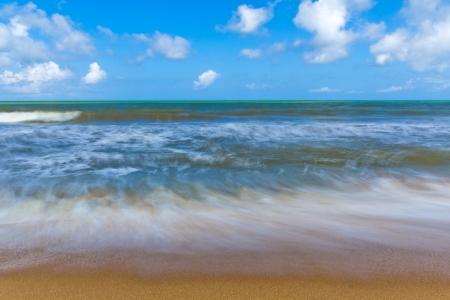 Long exposure image of a sandy beach in Sri Lanka photo