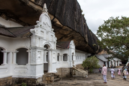 Dambulla cave temple, the largest and best-preserved cave temple complex in Sri Lanka