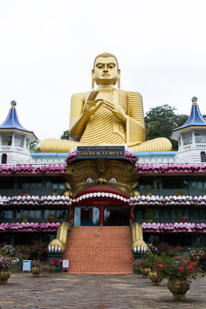 Golden Buddha Statue in Sri Lanka  photo
