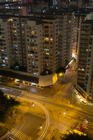 Hong Kong Street view in night