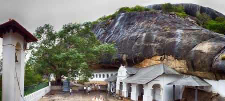 Dambulla cave temple, the largest and best-preserved cave temple complex in Sri Lanka photo