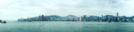 Panorama of Hong Kong skyline