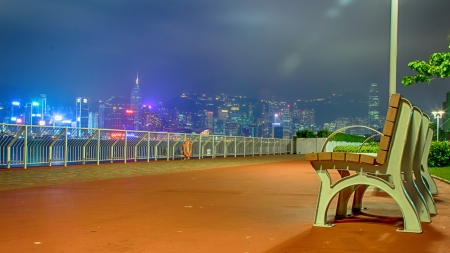 Hong Kong Skyline Night View photo