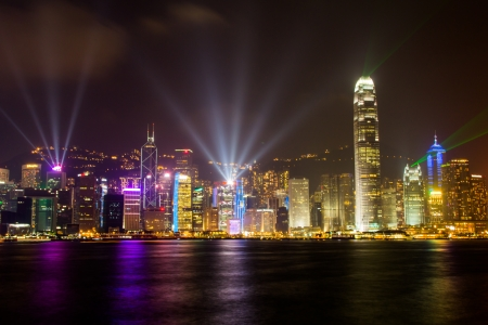Sound and Light show in Hong Kong