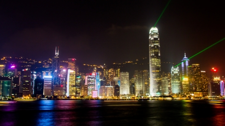 Sound and Light show in Hong Kong photo