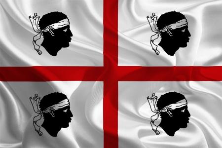 이탈리아 사르데냐의 깃발 스톡 콘텐츠
