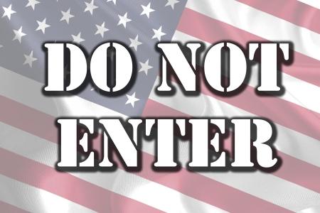 USA Government Shutdown Text Message on Flag photo