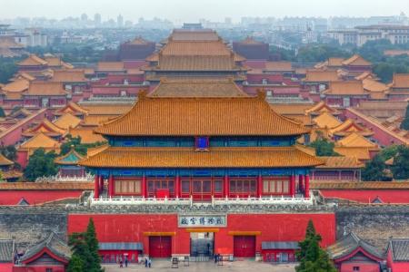 안개 낀 아침, 베이징, 중국의 자금성