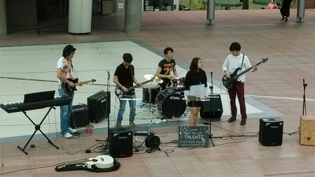 group of students are performing at PolyU got talent event in Hong Kong Polytechnic Univertisy  Stock Photo - 23553954