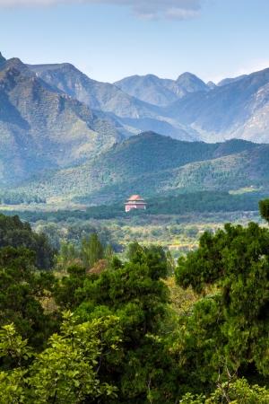 Tianshou Mountains next to the Ming Dynasty Tombs Stock Photo